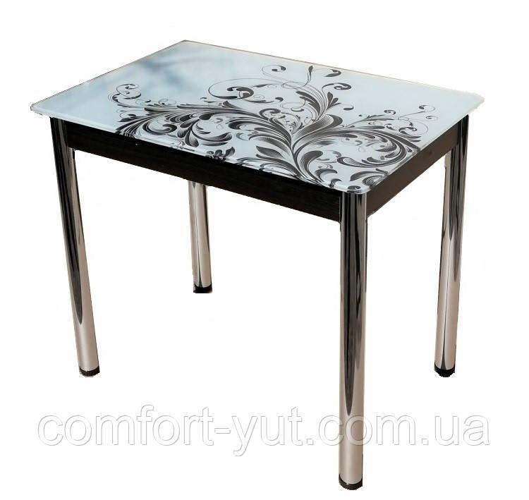 Стол кухонный нераскладной Даллас 90*60см со стеклом 16-305