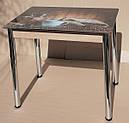 Стол кухонный нераскладной Даллас 90*60см со стеклом 16-305, фото 9