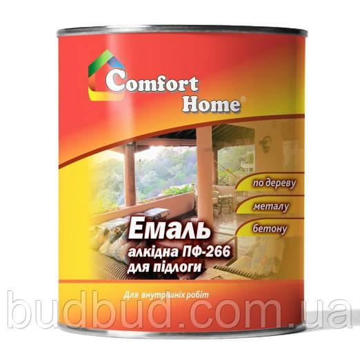 Эмаль желто-коричневая ПФ-266 Comfort Home 0.9 кг.