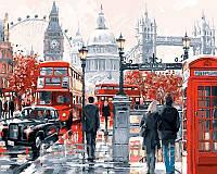 Рисование по номерам 50×65 см. Очарование лондона Художник Ричард Макнейл