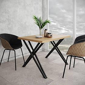 Стол обеденный Бруно ножки черный бархат столешница ДСП Вествуд 1200*800 мм (Металл дизайн)