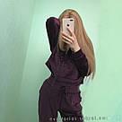 Спортивный костюм VICTORIA'S SECRET фиолетовый джоггер и толстовка с капюшоном на молнии спереди, фото 2