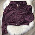 Спортивный костюм VICTORIA'S SECRET фиолетовый джоггер и толстовка с капюшоном на молнии спереди, фото 3