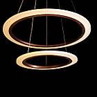 """Современная подвесная LED люстра """"Кольца"""" 85 Вт на пульте д/у и диммером СветМира D-2142/400+600CF, фото 4"""