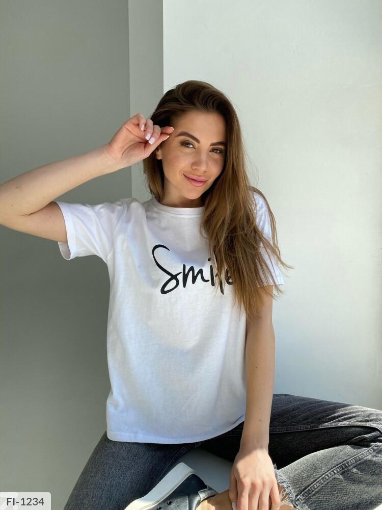 Футболка женская  «Smile» (Батал)
