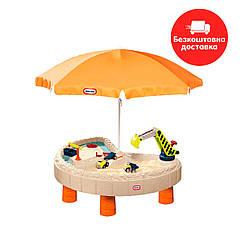 Песочница-стол Веселая стройка Little Tikes (для песка и воды, с аксессуарами) 401N10060