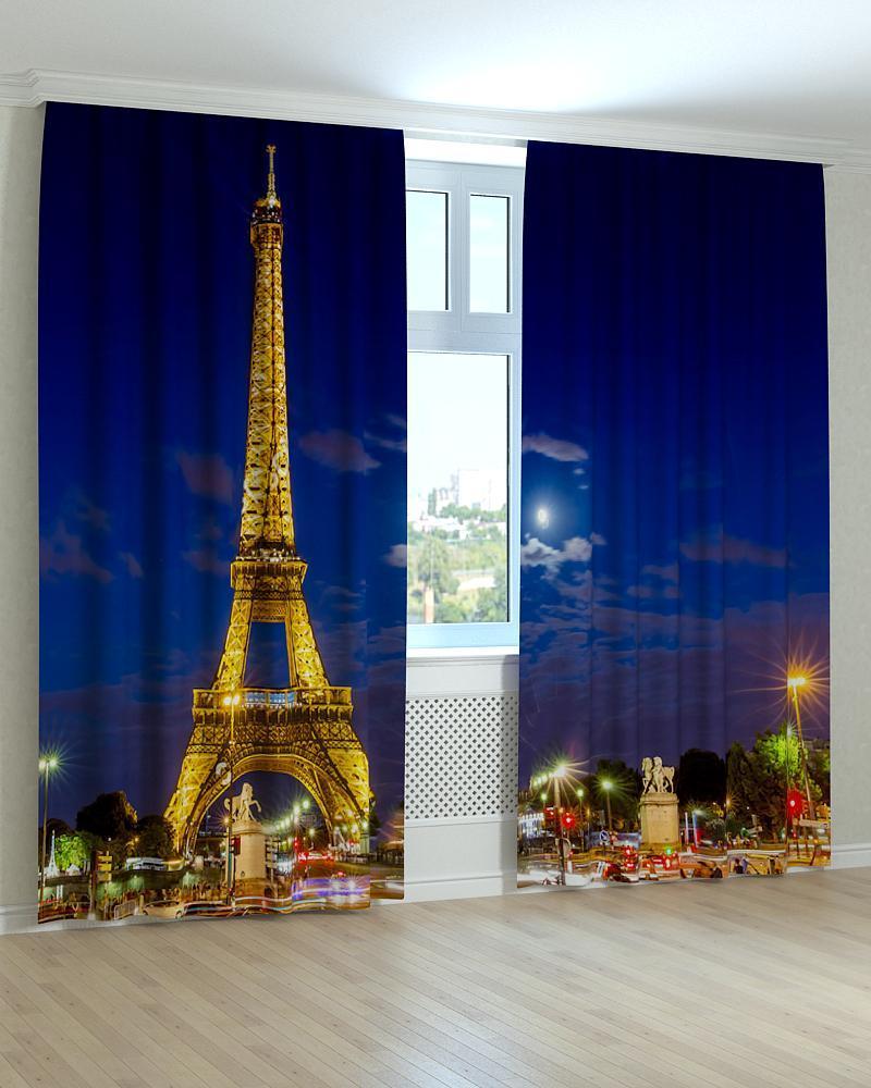 Фотошторы вечерний Париж