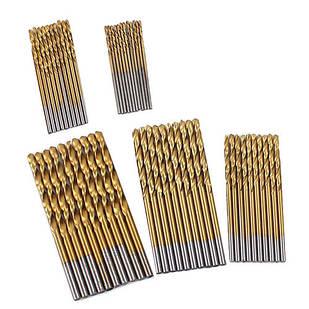 Набор из 50 сверл спиральных 1-3мм по металлу, HSS-сталь