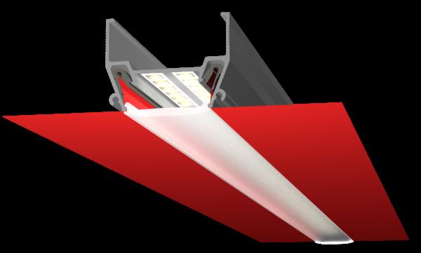 Профіль ALTEZA для натяжних стель - Vector (пофарбований у білий) (2м. п.)
