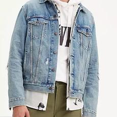 Джинсовая куртка Levis Trucker Jacket -  GET RIPPED