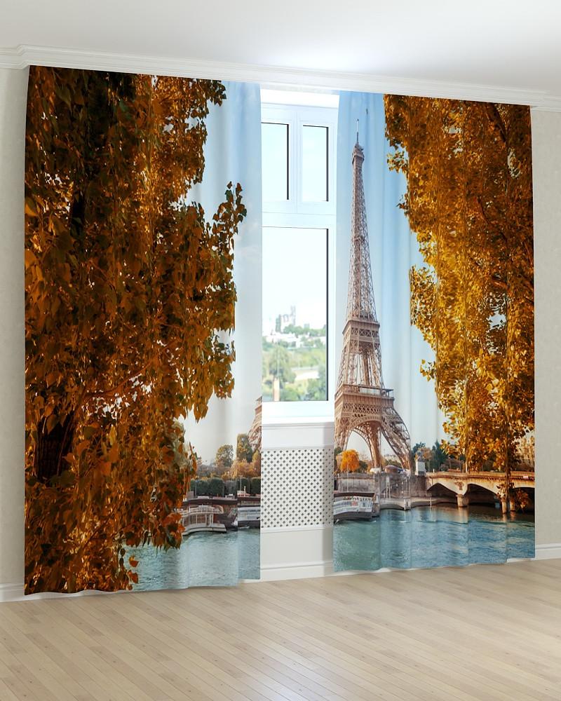 Фото штори дерева і ейфелева вежа