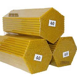 Восковые церковные свечи №40 - 200 шт/пачка. Диаметр - 7,5 мм. Высота - 26 см.