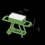 Мангал мобільний-стаціонар на колесах MOUSSON VULCAN BOX, фото 7