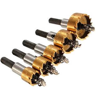 Набор из 5 коронок, корончатых сверл 16-30мм по металлу HSS