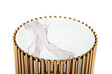 Журнальний стіл CJ-1 білий мармур + золото, фото 3