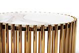 Журнальний стіл CJ-1 білий мармур + золото, фото 5