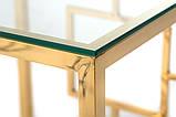 Кофейный стол CL-2 прозрачный + золото, фото 5