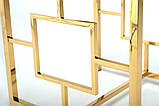 Кофейный стол CL-2 прозрачный + золото, фото 7