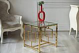 Кофейный стол CL-2 прозрачный + золото, фото 9