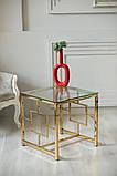 Кофейный стол CL-2 прозрачный + золото, фото 10