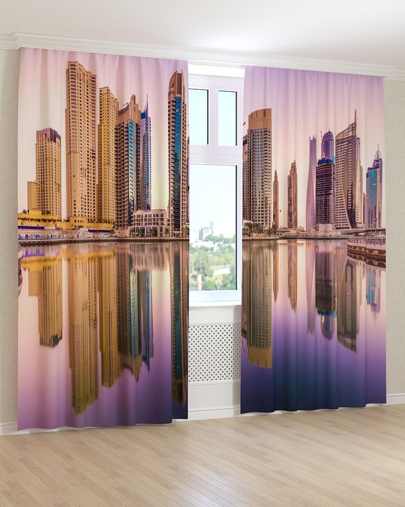 Фото штори відображення високих будівель