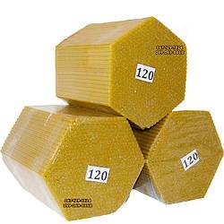Восковые церковные свечи №120 - 600 шт/пачка. Диаметр - 5 мм. Высота - 16,5 см.