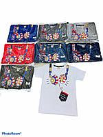 Детская трикотажная футболка для мальчика Наушники размер 1-4 года, цвет уточняйте при заказе