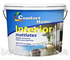"""Краска стойкая к мытью белая матовая """"Interior"""" Comfort Home 1.2 кг"""