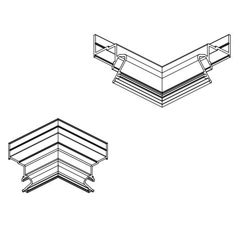 ALTEZA для натяжних стель - Елемент кут (90°) для профілю (1шт.)
