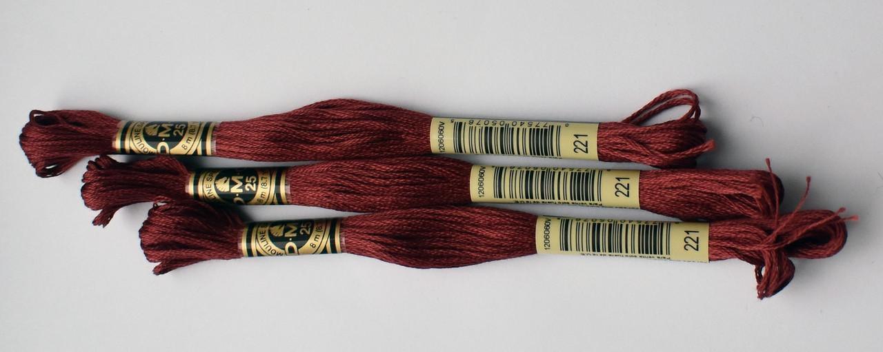 Нитки мулине DMC цвет 221 розовых ракушек, оч.т., арт.117