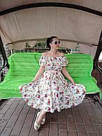Платье-миди белый софт
