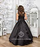 Шикарне довге плаття з золотим купоном на 6-10 років, фото 3