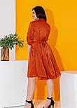 Платье рубашка в больших размерах с рукавом 3/4 и завязкой на спине летнее (р. 50-56) 11538, фото 2
