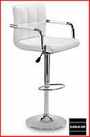 Барный стул Sofotel Alter (белый) Стул-хокер Кожаный Барное кресло для Бара Кафе Ресторана Для кухни