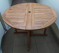 Садовый стол BONI из тика 120 см, фото 1