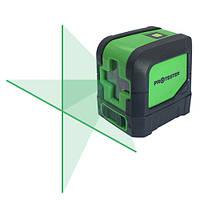 Лазерный уровень, нивелир, с зеленым лучом, зеленый, строительный, осепостроитель PROTESTER LL102G