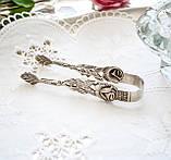 Посріблені щипці для цукру, сріблення, мельхіор, Хильдесхаймская троянда, Німеччина, фото 6