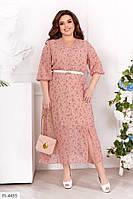 Женское красиое шифоновое платье больших размеров, фото 1