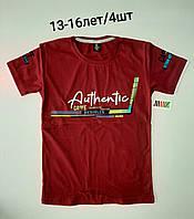 Підліткова трикотажна футболка для хлопчика Authentic розмір 13-16 років, колір уточнюйте при замовленні, фото 1