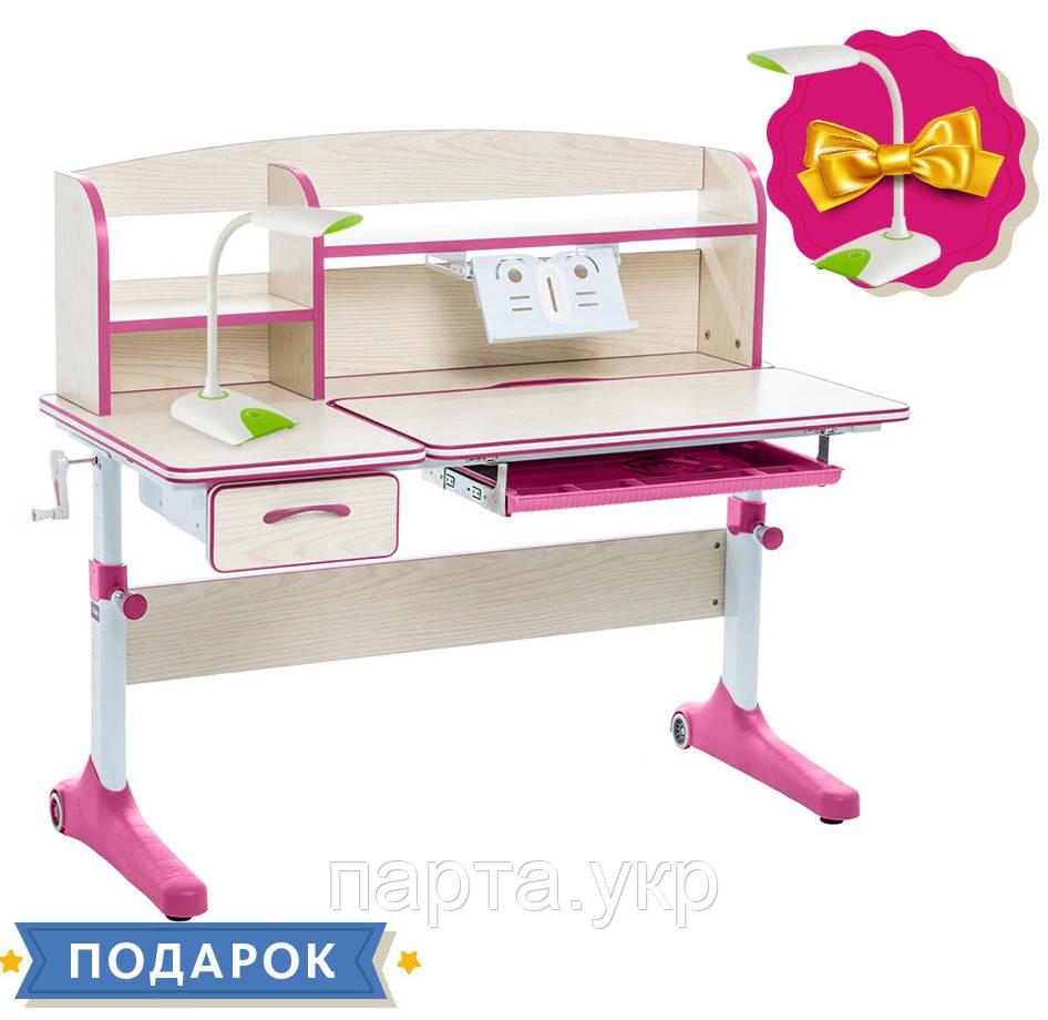 Парта Трансформер для школярів Cubby Ammi 120см Grey, Pink