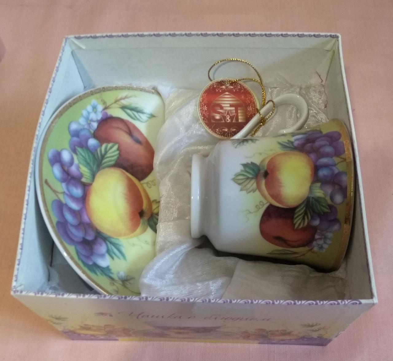 Набор чайный - чашка с блюдцем  230мл. в коробке