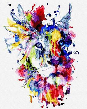 Картины по номерам 40х50 см Brushme Фантастический лев (GX 30791)