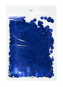 Конфетті шестигранник, синій 6мм, 15гр