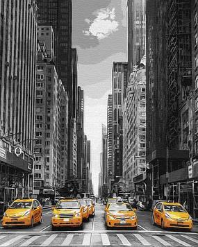 Картины по номерам 40х50 см Brushme Такси Нью-Йорка (GX 9386)