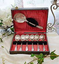 Набір старих англійських десертних ложечок, сріблення, EPNS, Англія, Dorchester Plate
