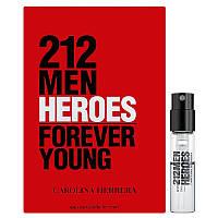 Carolina Herrera 212 Men Heroes Forever Young Туалетна вода (пробник) 1.5ml (8411061005576)