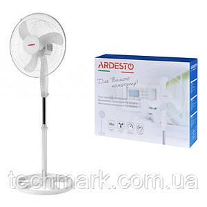 Вентилятор напольный Ardesto FN 1608RW с круглой опорой Белый