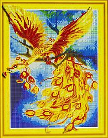 "Алмазна мозаїка 3D з номерами 40*50см ""Жар-птиця""014"