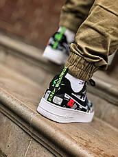 Мужские кроссовки Nike Air Force World Black White ALL02376, фото 2
