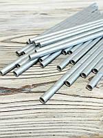 Трубочки 25 шт бумажные одноразовые, цвет серебро